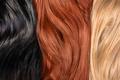 Long blond, black, red human shiny hair - PhotoDune Item for Sale