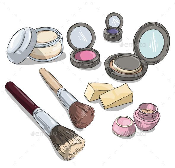Makeup Products  - Health/Medicine Conceptual