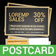 Sale Postcard - GraphicRiver Item for Sale