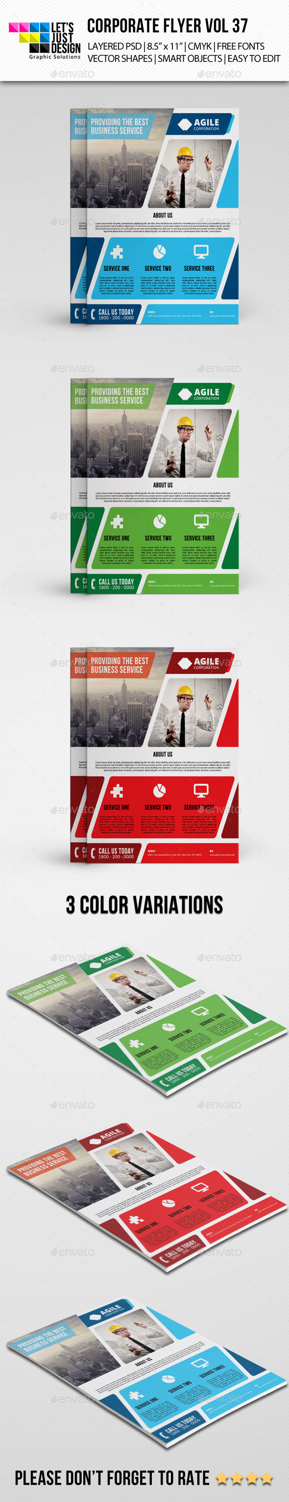 Corporate Flyer Template Vol 37 - Corporate Flyers