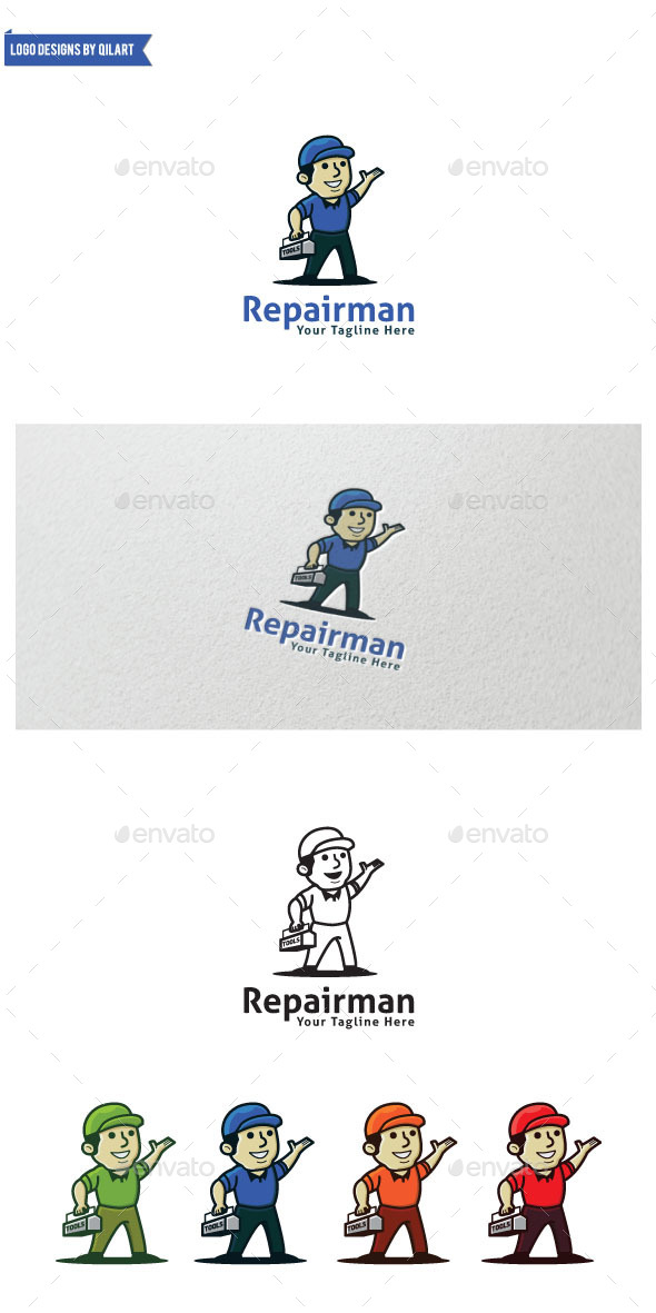 Repairman - Humans Logo Templates