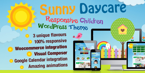 Daycare – Kindergarden WordPress Theme