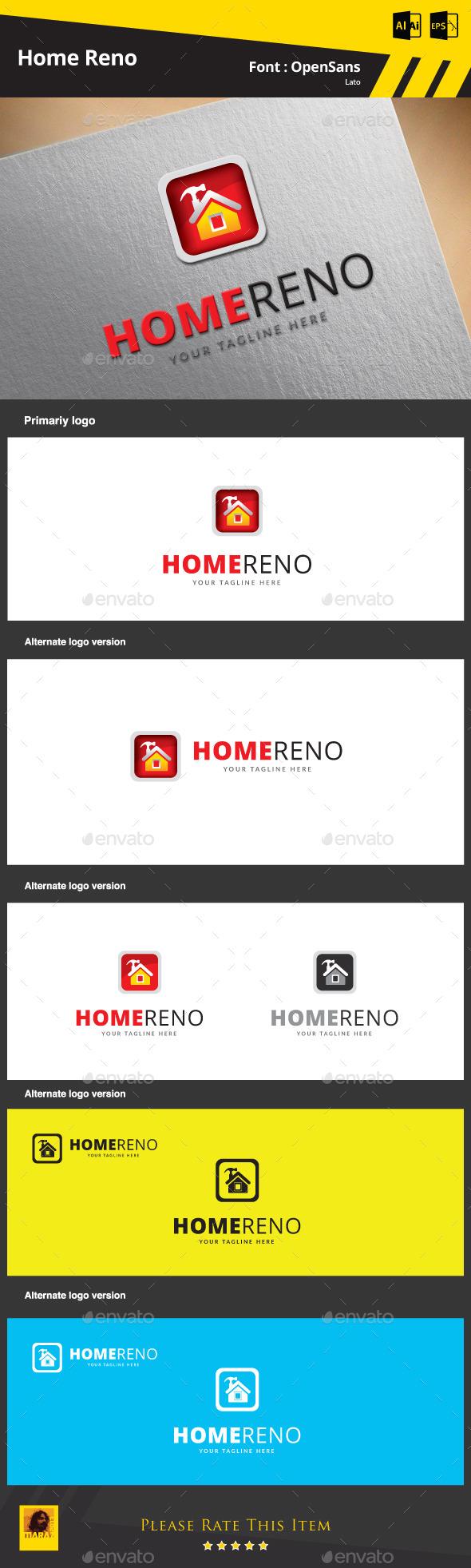 Home Reno - Symbols Logo Templates