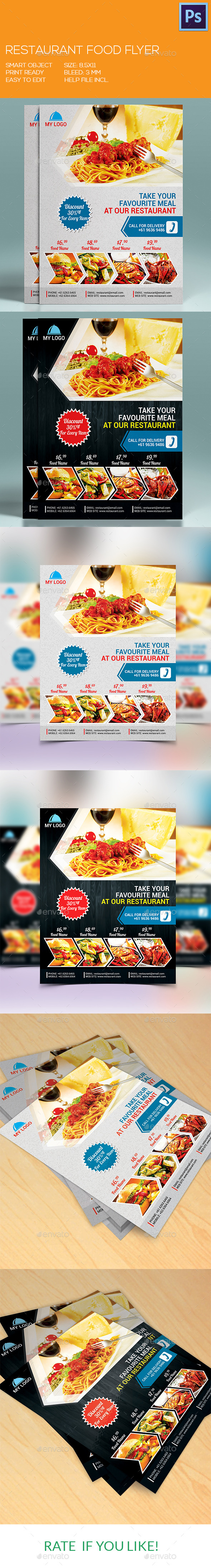 Restaurant/Fast Food Flyer - Restaurant Flyers
