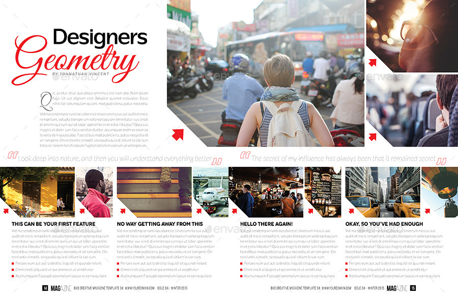 Magazine Template - InDesign 52 Page Layout V4 by BoxedCreative ...