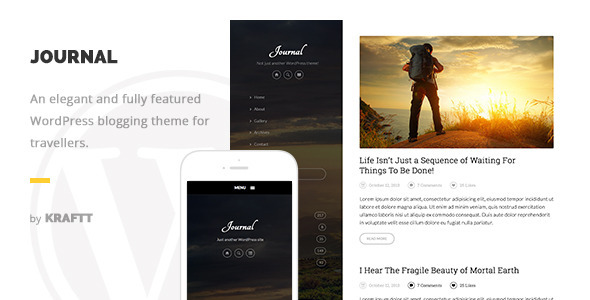 Journal – Elegant Responsive WordPress Blog Theme