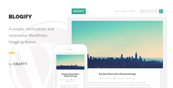 Blogify – Flat Responsive WordPress Blog Theme