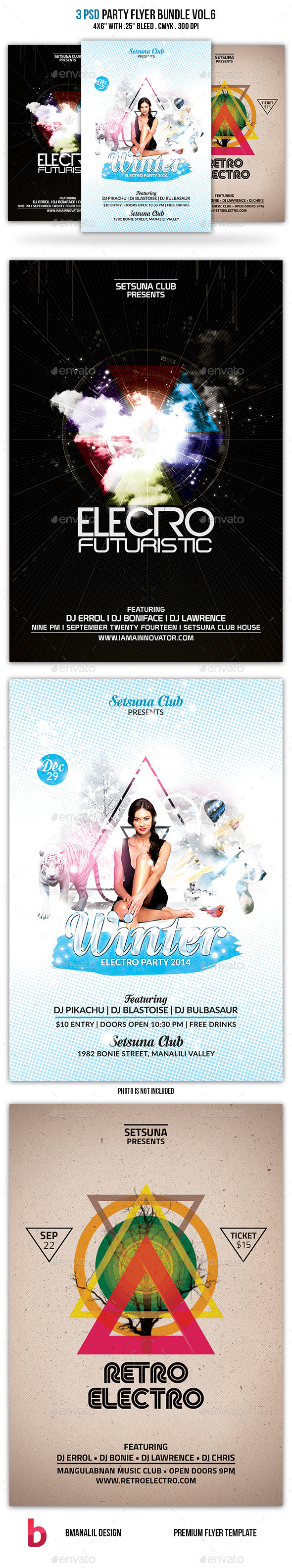 Party Flyer Bundle Vol.6 - Clubs & Parties Events