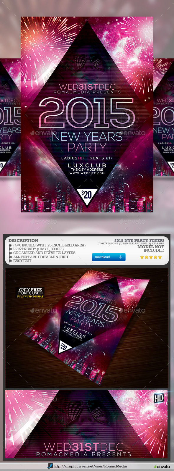 2015 NYE Party - Events Flyers