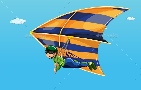 Hang Gliding - People Characters