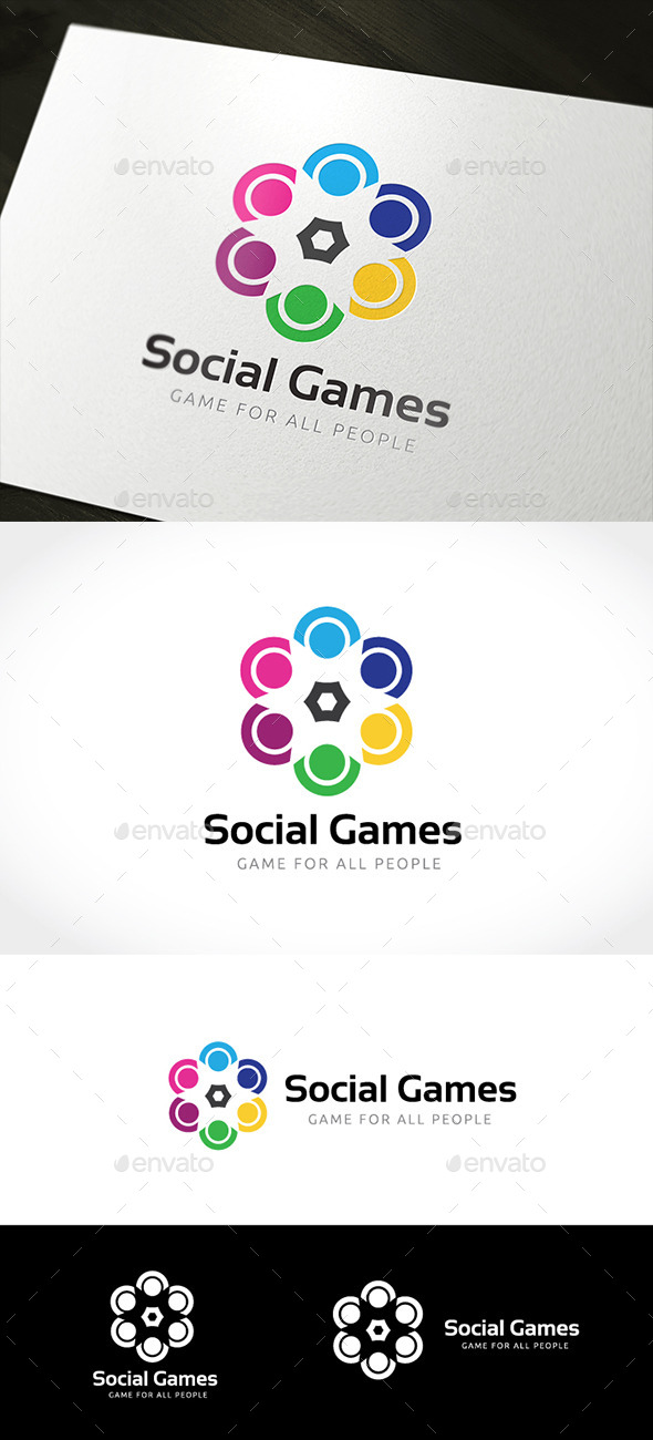 People Social Games - Humans Logo Templates