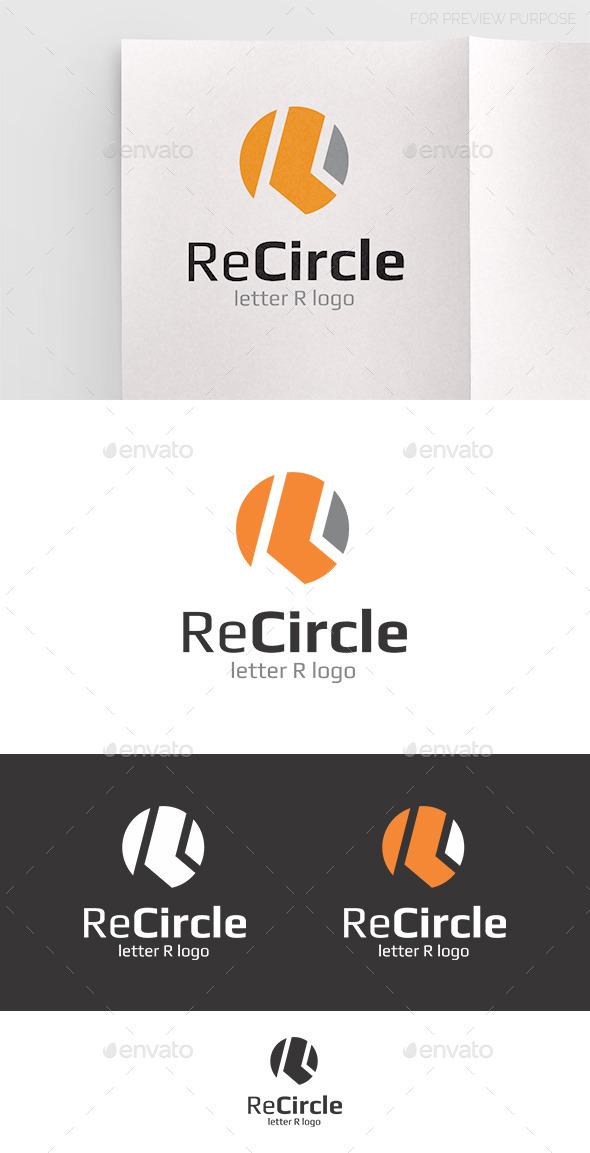 Recircle Letter R Logo - Letters Logo Templates