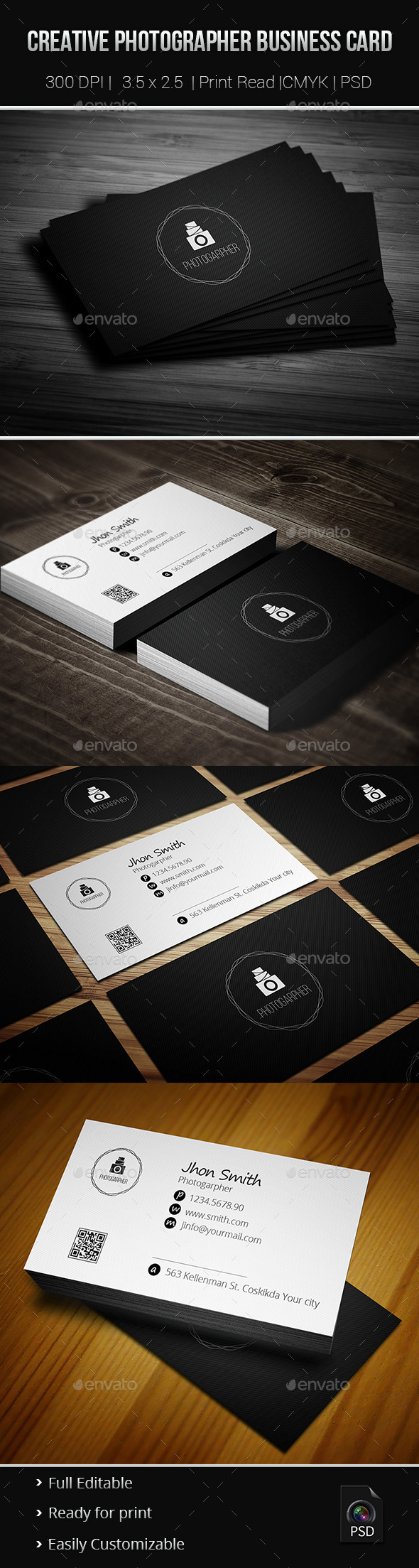 Creative Photgrapher Business Card 02 - Creative Business Cards