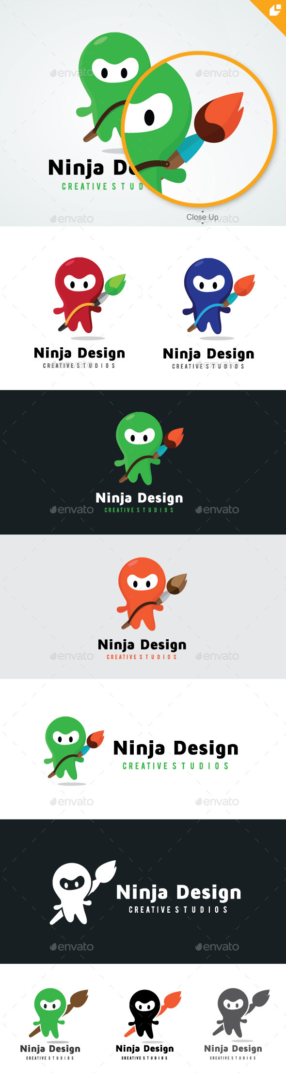 Ninja Design  - Humans Logo Templates