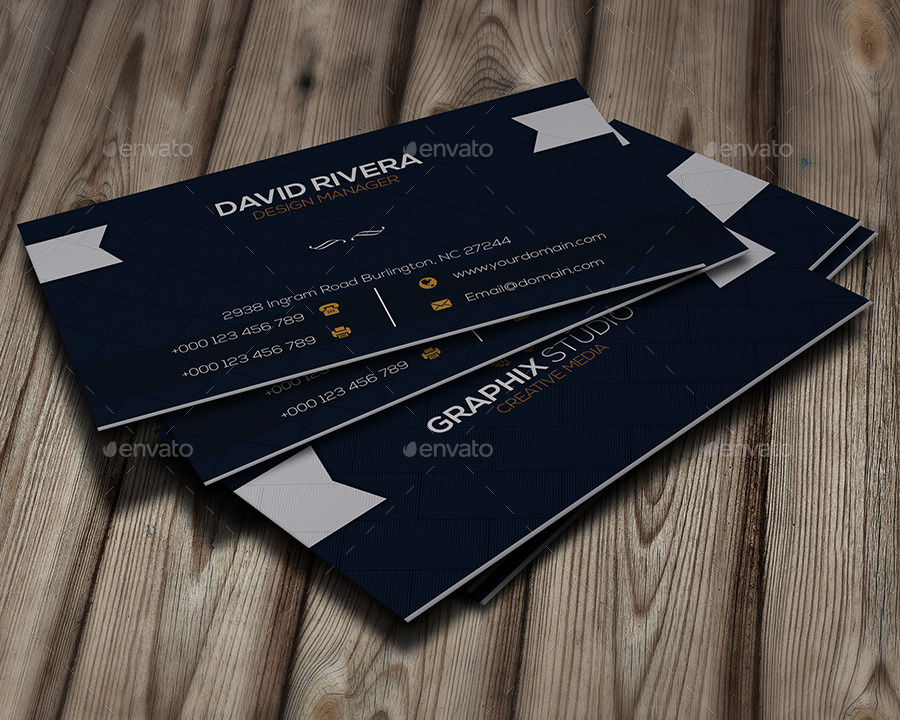 Navy blue business card by infenixx graphicriver navy blue business card corporate business cards 1g colourmoves