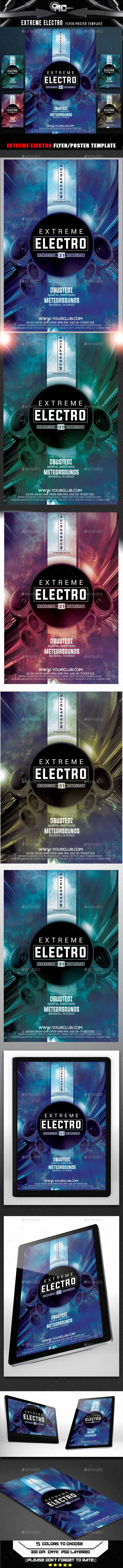 Extreme Electro Flyer Template - Events Flyers