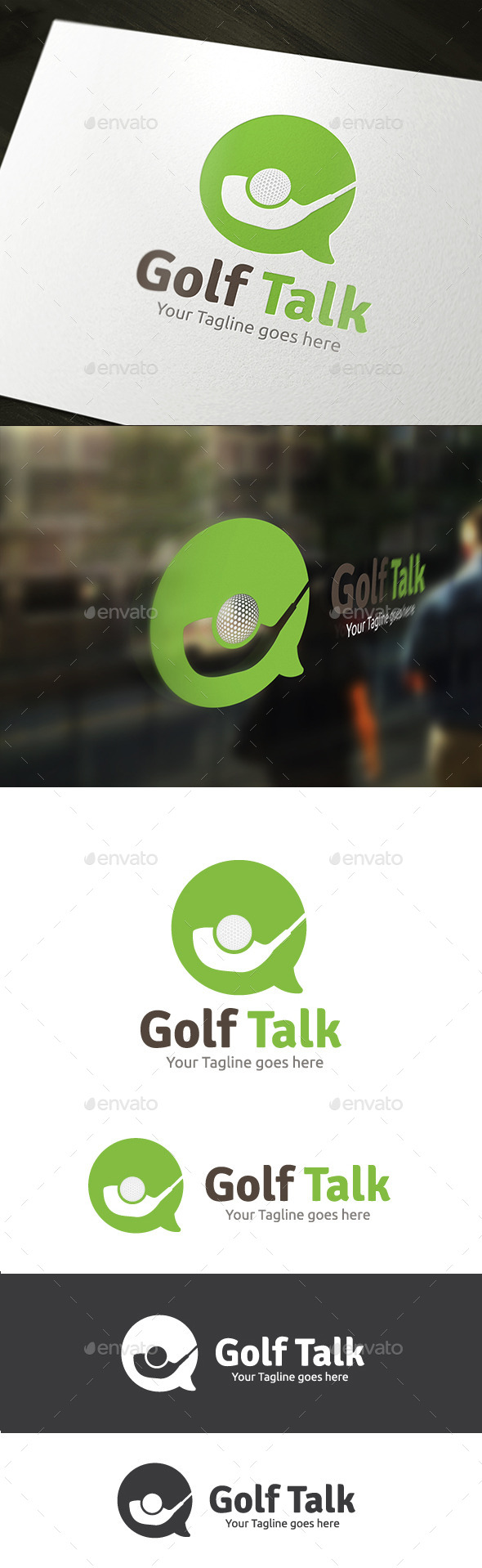 Golf Talk - Objects Logo Templates