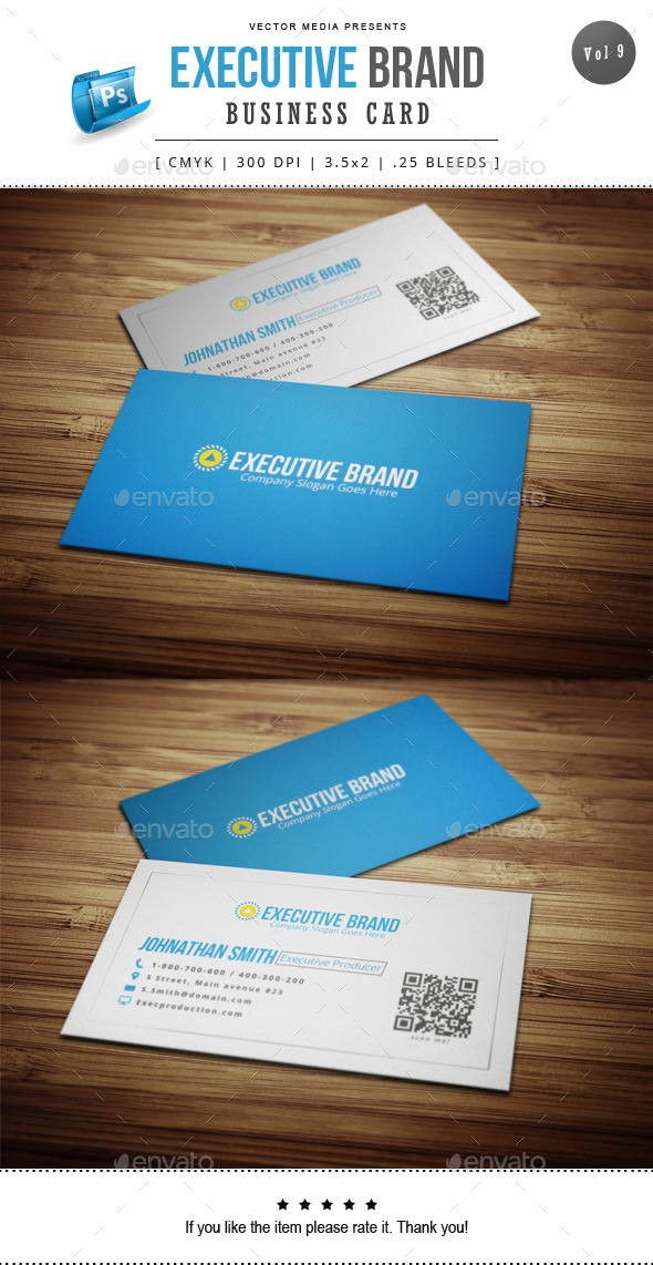 Executive Brand - Business Card [Vol.9] - Corporate Business Cards