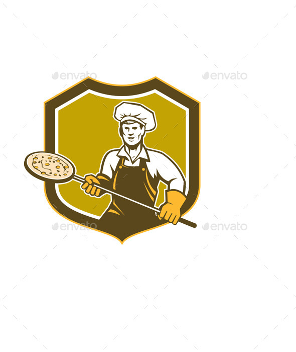 Pizza Maker Shield - People Characters