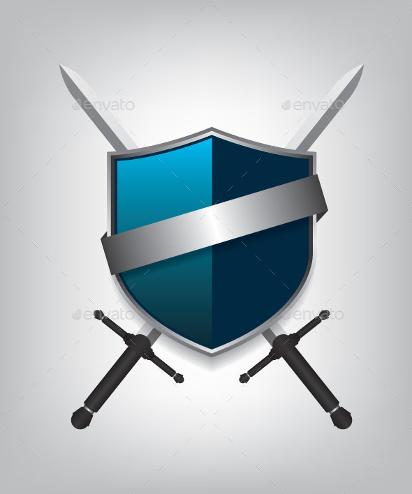 Swords and Shield - Objects Vectors
