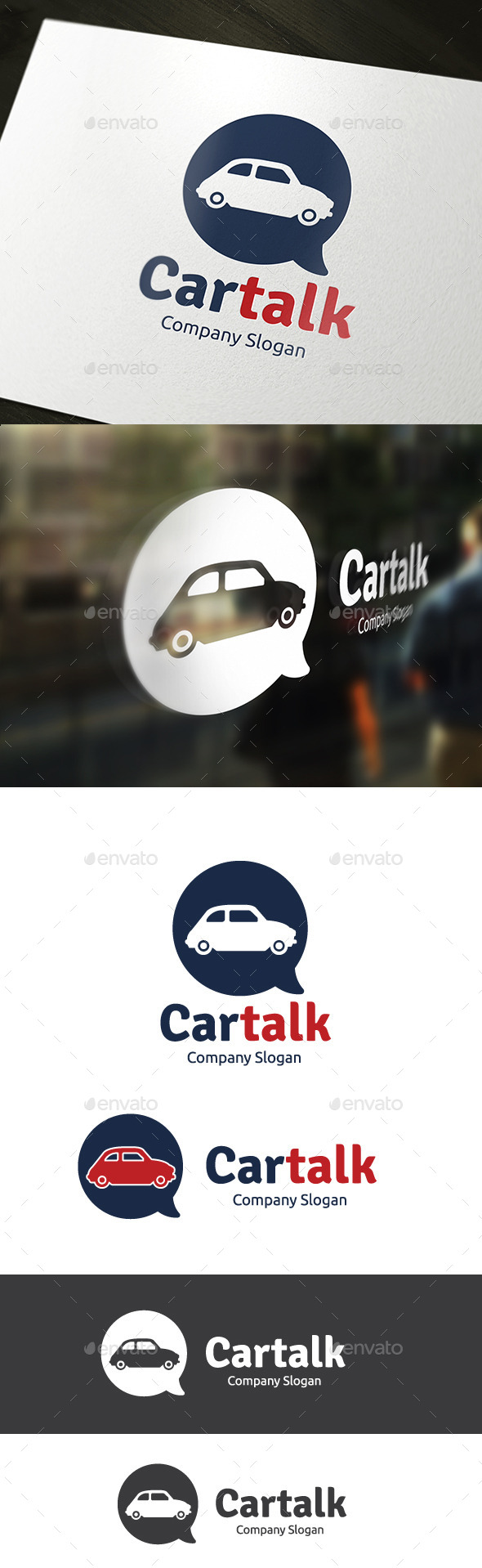 Car Talk - Objects Logo Templates