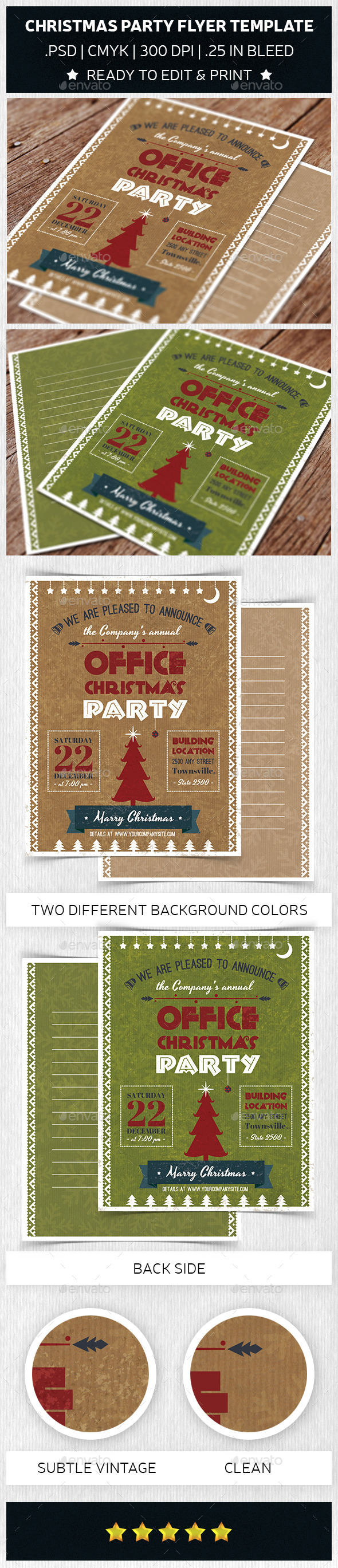 Christmas Party Flyer Template Trend - Holidays Events
