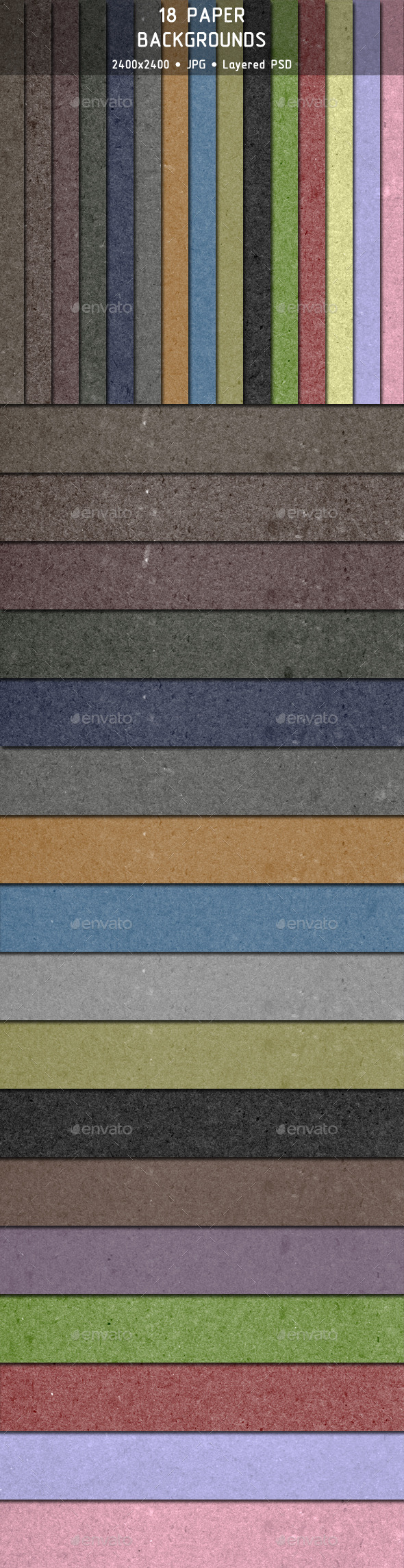 18 Paper Backgrounds - Backgrounds Graphics