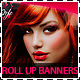 Hair Salon Fashion Style Roll Up Banners  - GraphicRiver Item for Sale