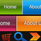 5 Bright Color Menu Bars + Bonus Icons - GraphicRiver Item for Sale