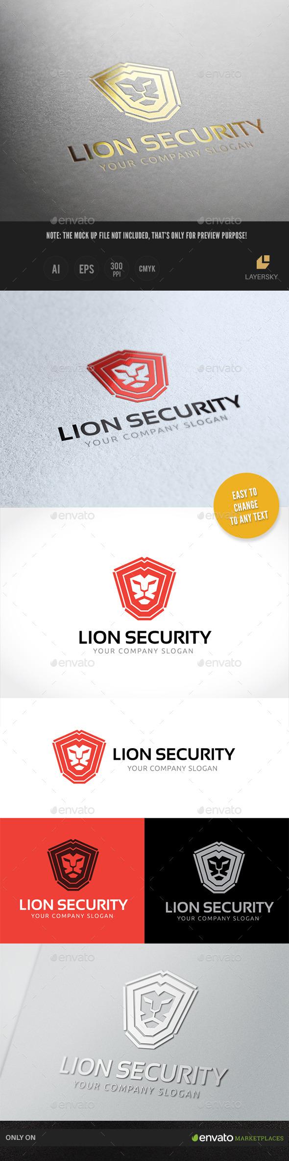 Lion Security - Crests Logo Templates
