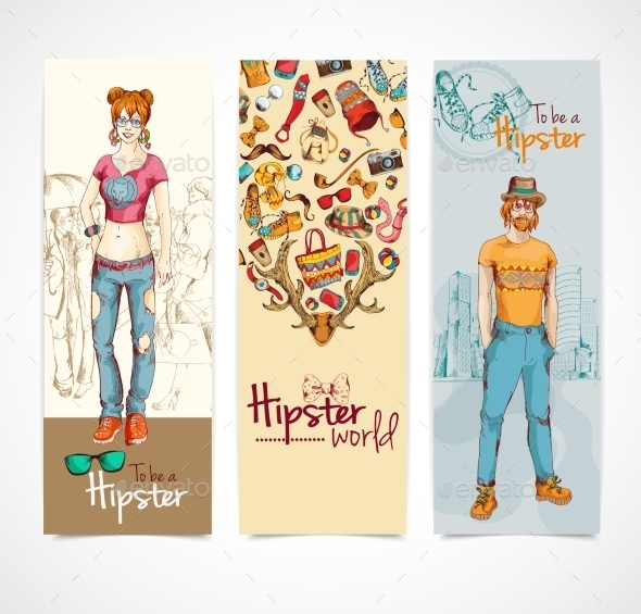 Hipster Banners - Decorative Vectors