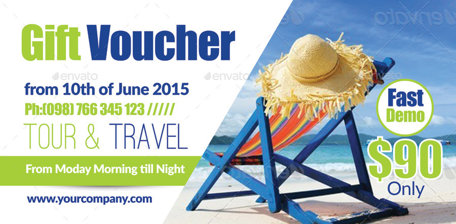 Tour Travel Gift Voucher Bundle by designhub719 | GraphicRiver