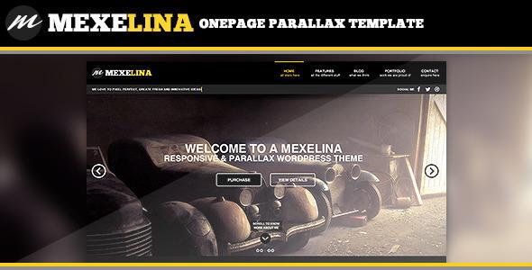 Mexelina Onepage Creative Portfolio Template