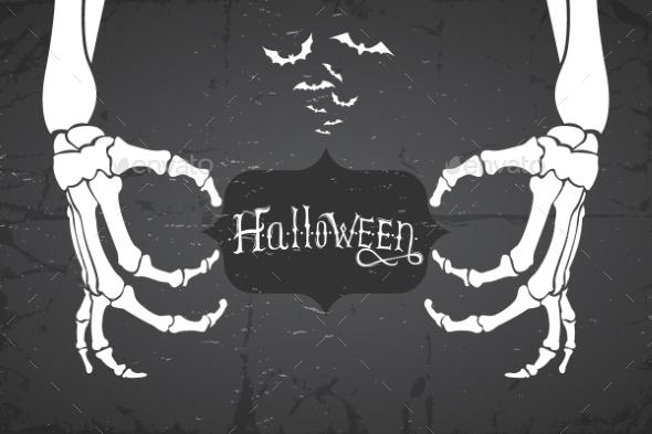 Abstract Retro Grunge Halloween Background - Halloween Seasons/Holidays