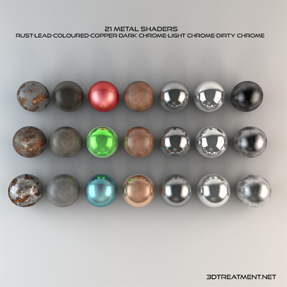 21 Metal Shaders - 3DOcean Item for Sale