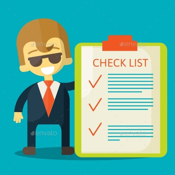 Businessman with Checklist - Business Conceptual
