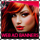 Hair Salon Fashion Style Web Advertisement Banners - GraphicRiver Item for Sale