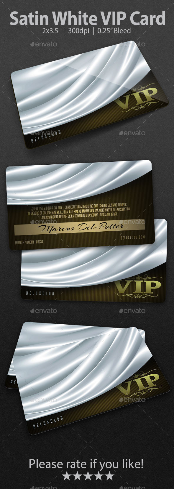 Satin White VIP Card - Loyalty Cards Cards & Invites