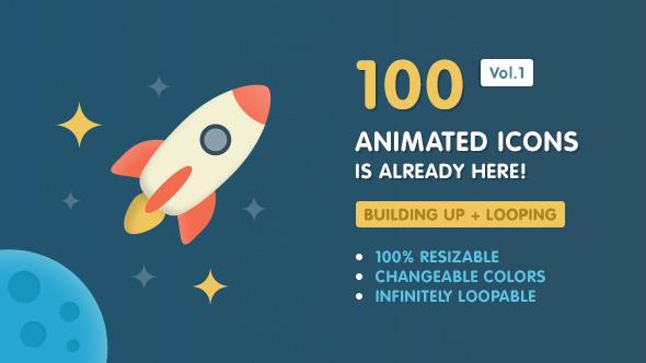 Ballicons Vol.1 — 100 animated icons