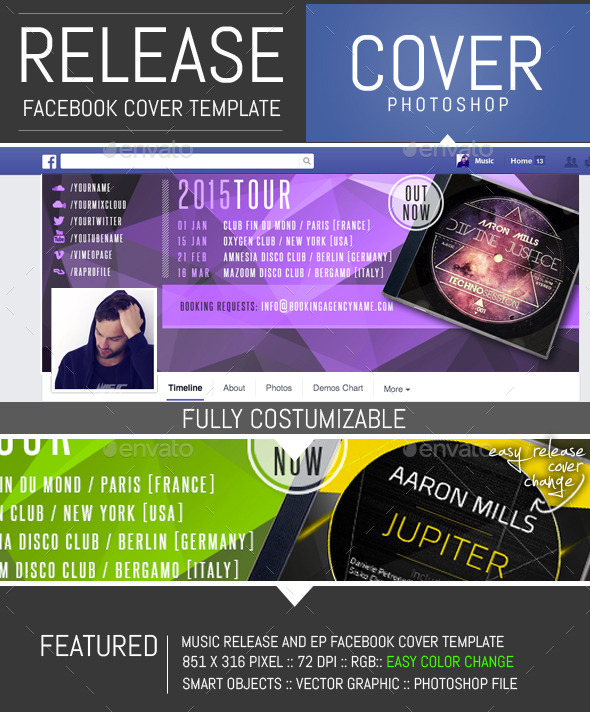 Dj Release Facebook Timeline Cover Template - Facebook Timeline Covers Social Media