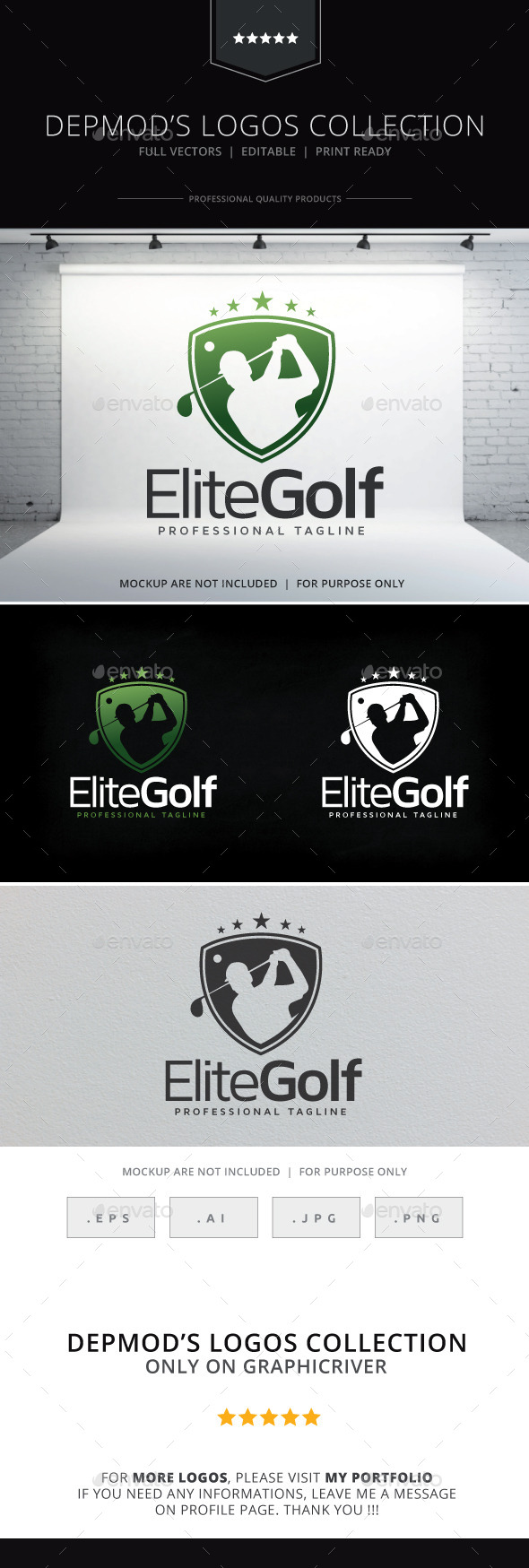 Golf Logo - Humans Logo Templates