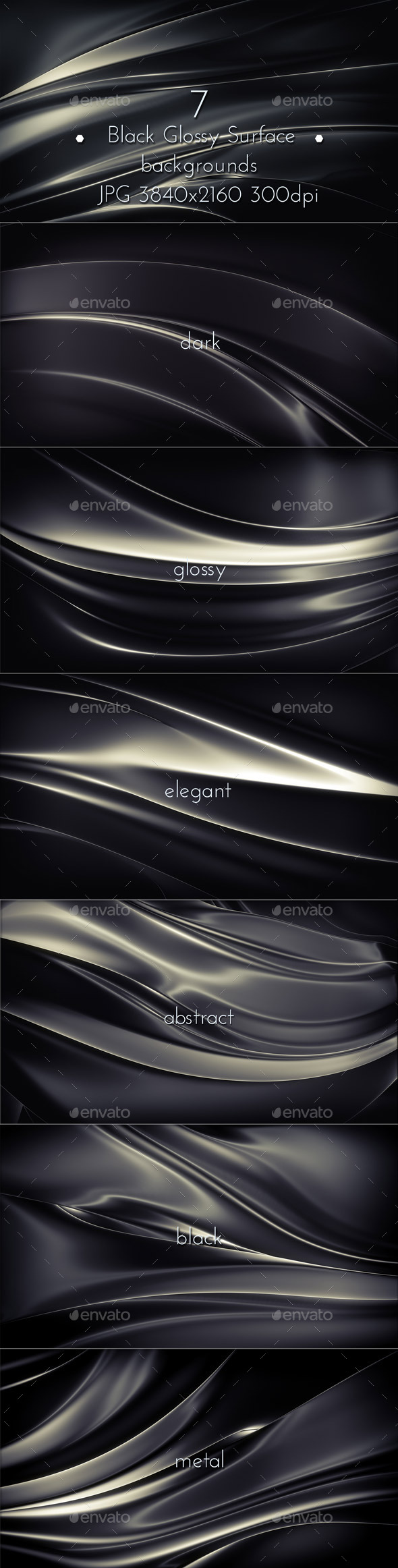 Black Glossy Surface - Abstract Backgrounds