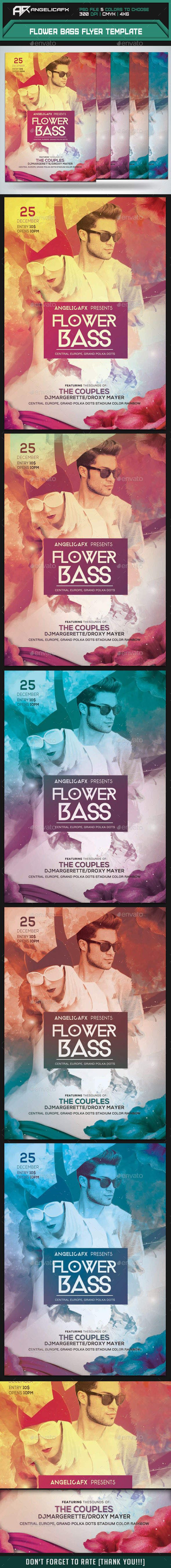 Flower Bass Flyer Template - Flyers Print Templates