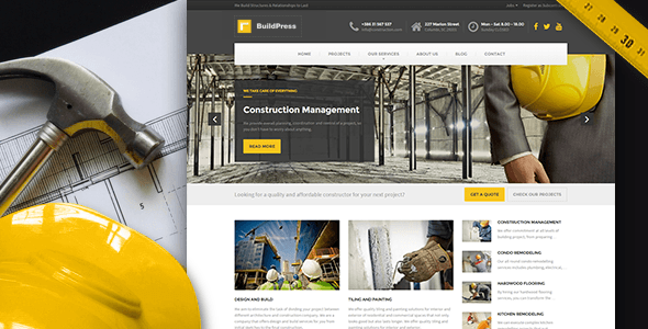 BuildPress – Construction Business WP Theme