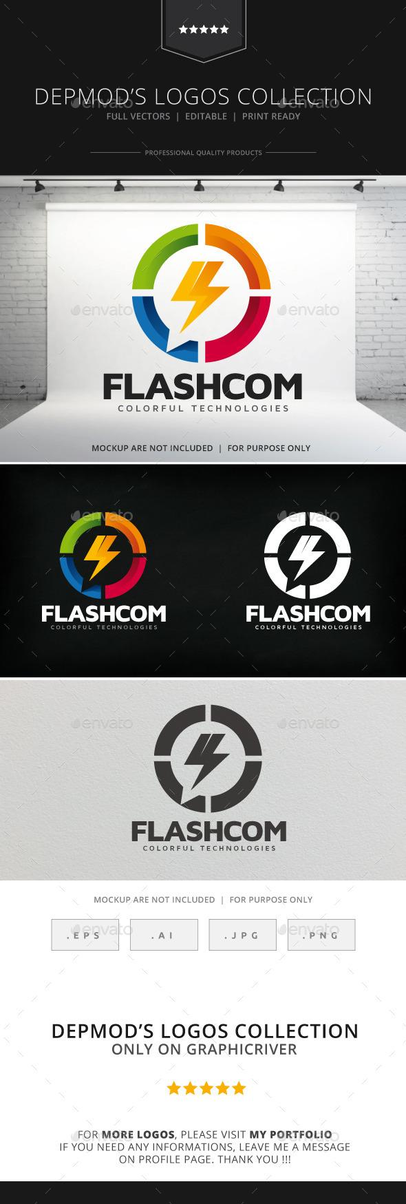 Flashcom Logo - Symbols Logo Templates