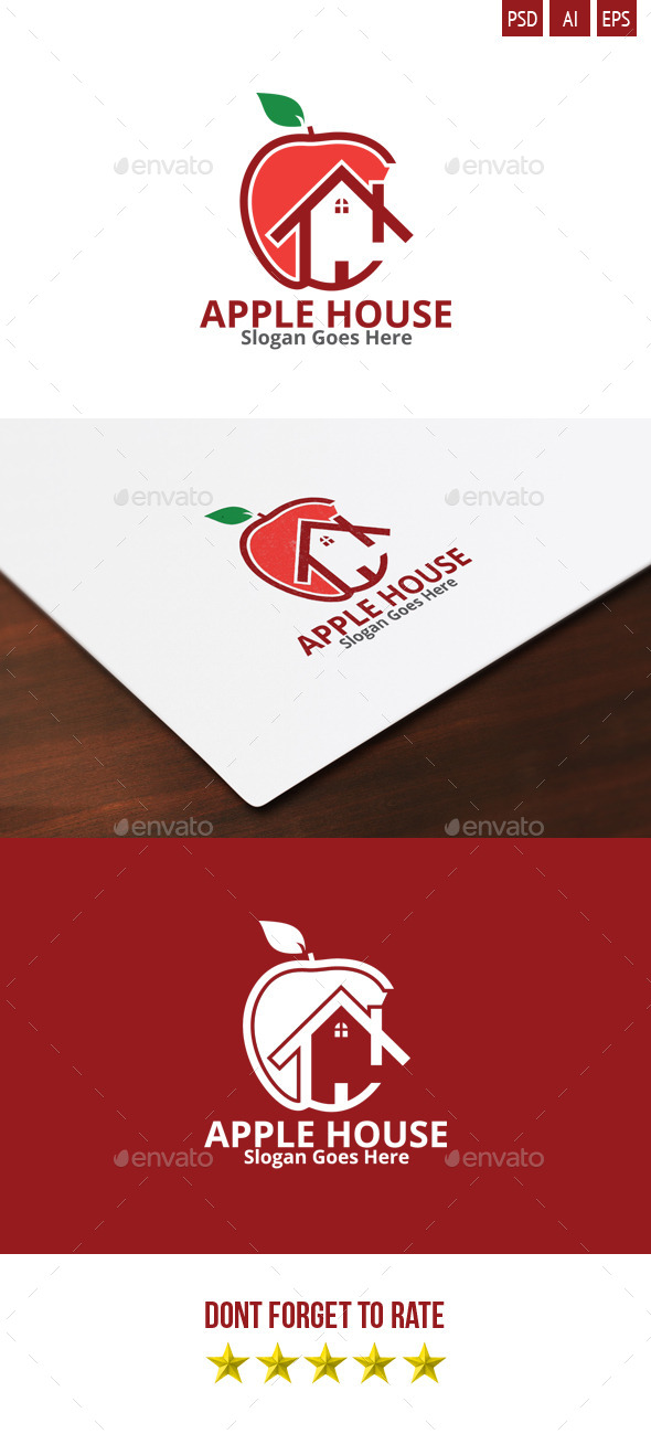 Apple House Logo - Food Logo Templates