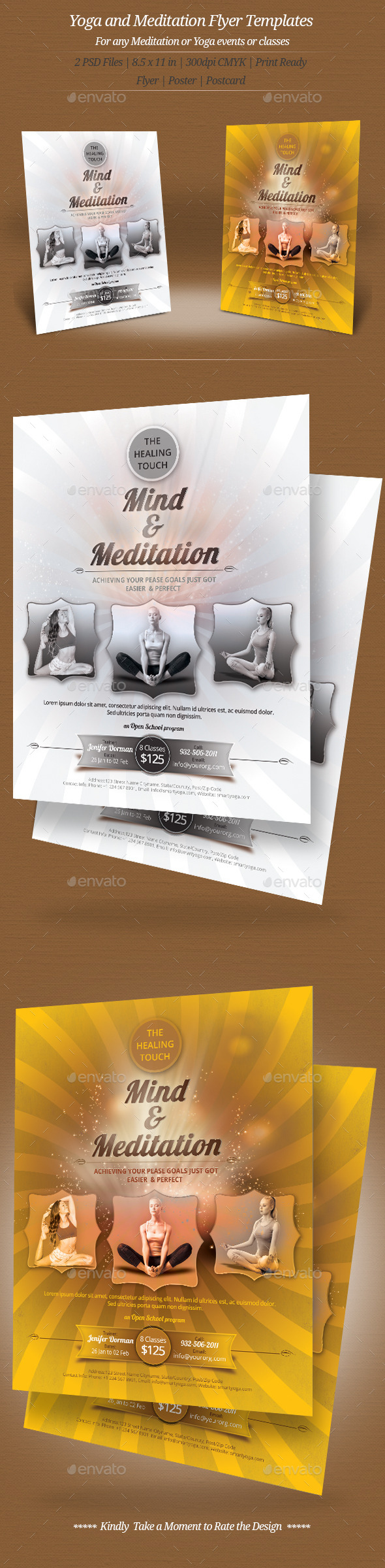 Yoga and Meditation Flyer Templates - Sports Events
