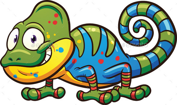 Cartoon Chameleon - Animals Characters