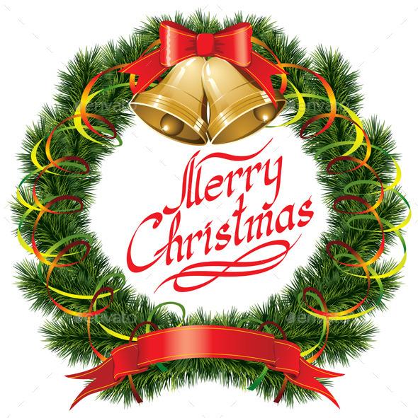 Christmas Bells with Christmas Tree - Christmas Seasons/Holidays