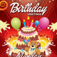 Glowing Birthday Card - GraphicRiver Item for Sale